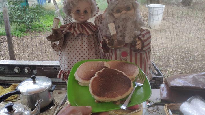 Pancakes, noch ohne Butter und Sirup