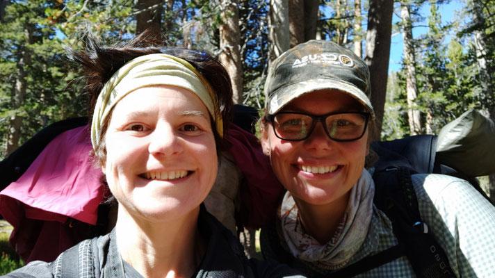 I Washington beim Trailmagic am Trailhead bei Winthrop kennen gelernt und in der Sierra zwischen zwei Pässen wieder getroffen