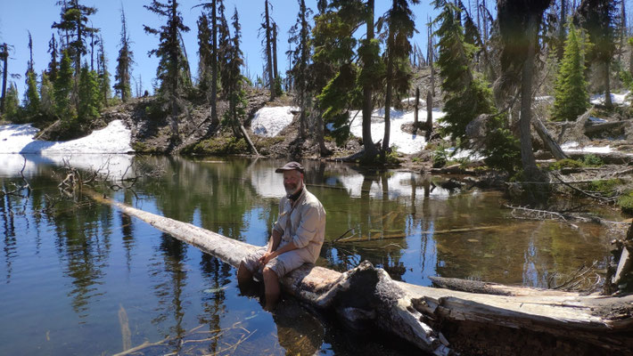 Mittagspause an einem kleinen See