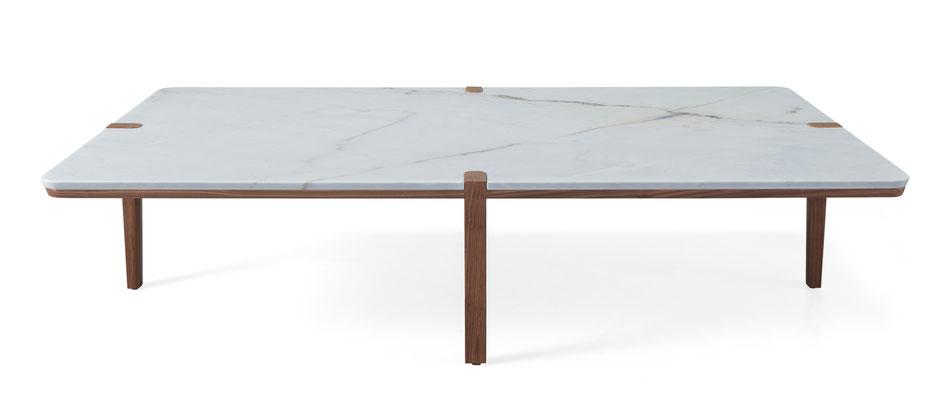 Version rectangulaire, noyer et marbre de Carrare, Pierre Dubourg 2018