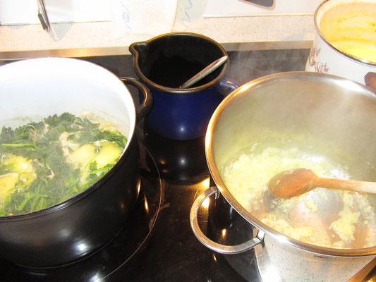 zwiebel in butter weichdünsten