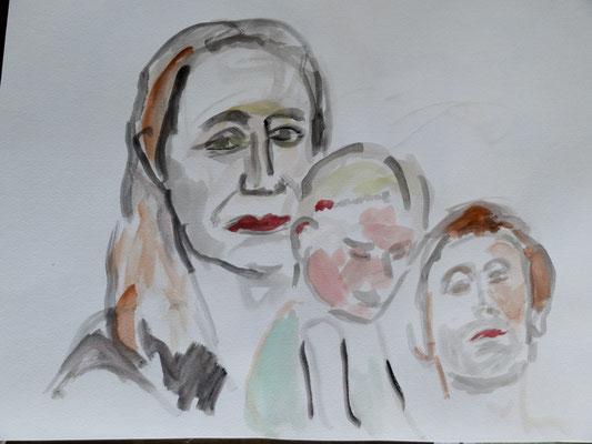 Marlena und Töchterchen und Mann by Fredi
