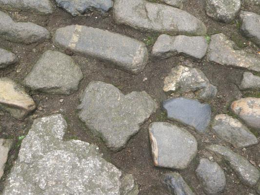 Herz im Steinpflaster von St. Michaels Mount