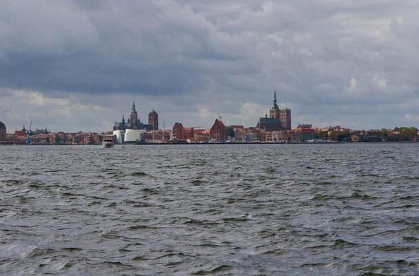 Stralsund von Altefähr auf Rügen