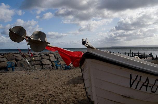 Fischerboot im Hafen von Vitt