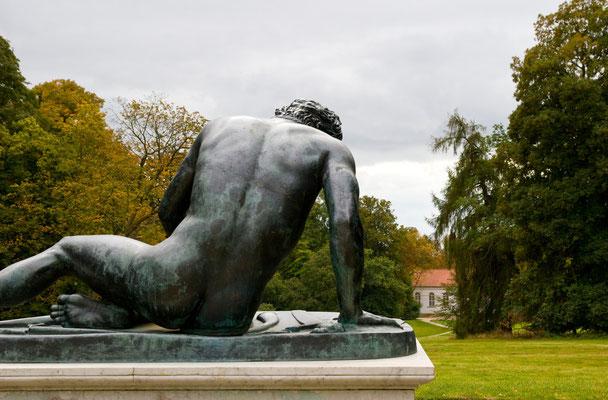 Skulptur im Park von Putbus