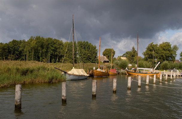 Zeesboote im Hafen von Althagen