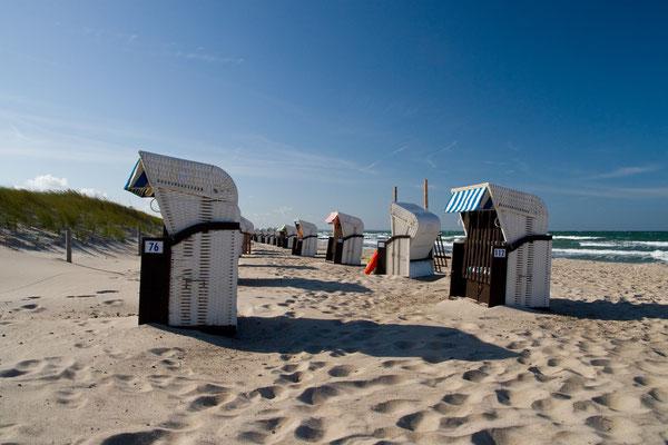 Strandkörbe bei Wustrow