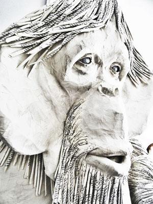 Orang-outan de papier- 130/130/130cm