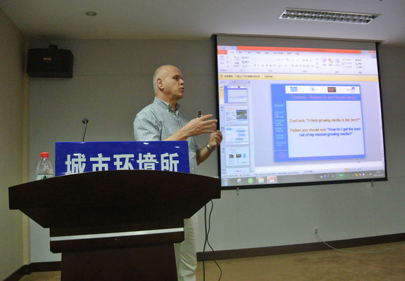 Dr. Gruda in Xiamen, China.