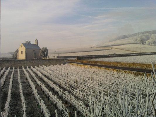 La Chapelle de Volnay sous la neige