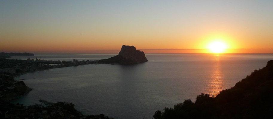 Calpe - Sonnenaufgang