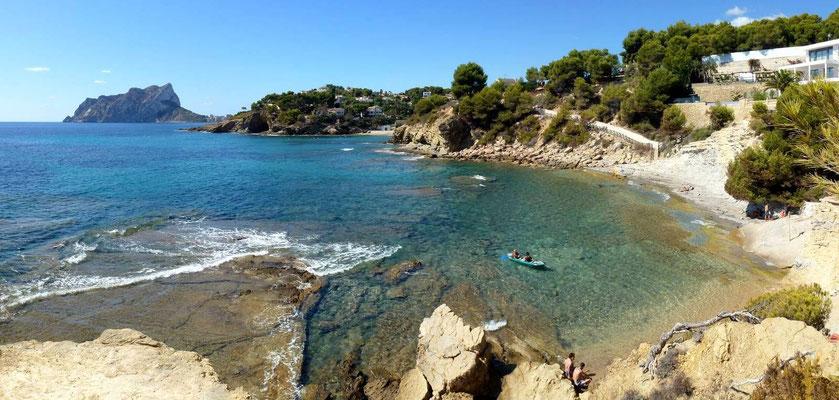 Bucht zwischen Calpe und Moraira
