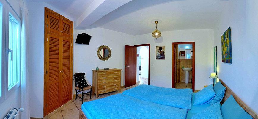 Schlafzimmer türkis - 2 Einzelbetten 90 x 200 cm