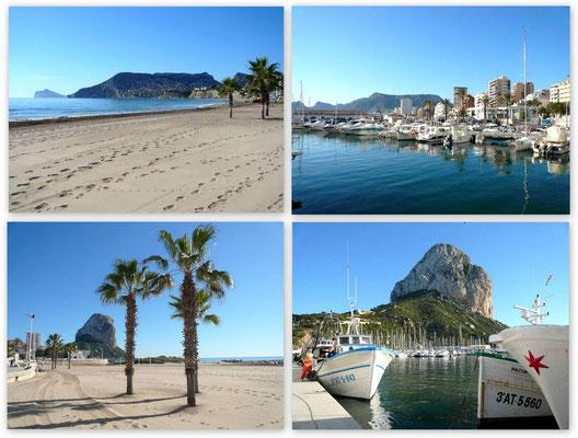 Calpe - Strand und Hafen