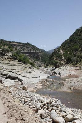 Der Bergbach trägt noch erstaunlich viel Wasser