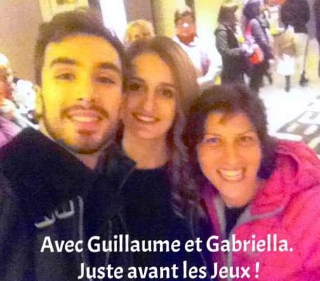 Avec Guillaume Cizeron et Gabriella Papadakis