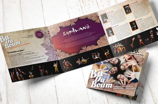 Compagnie GONDWANA - Plaquette publicitaire - Conception graphique