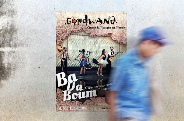 Compagnie GONDWANA - Affiche spectacle - Conception graphique