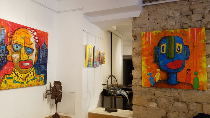 Malagarty, galerie 361° Aix-en-Provence 2019