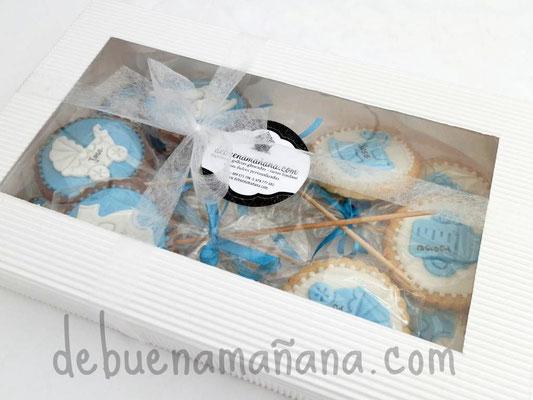 Caja regalo de Galletas y cupcakes