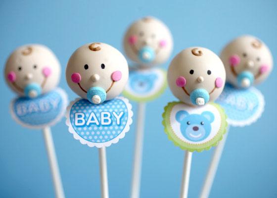 cakepops dulce bebé