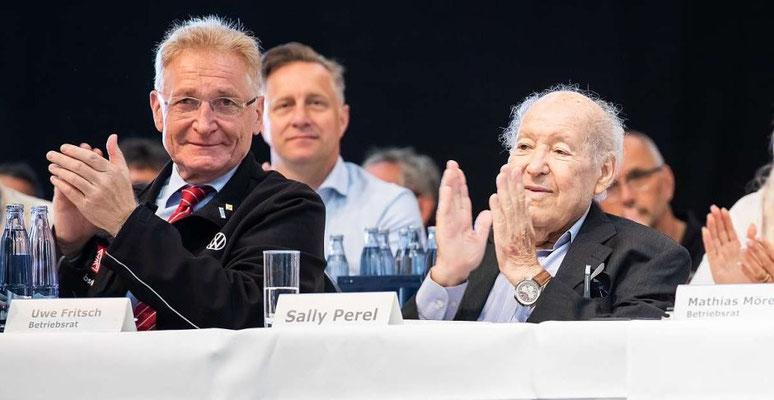 Uwe Fritsch (Betriebsratsvorsitzender Volkswagen Braunschweig), Sally Perel