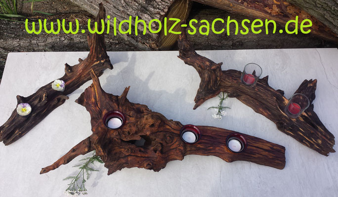 Wurzel - Leuchter  (25.- bis 35.- €)