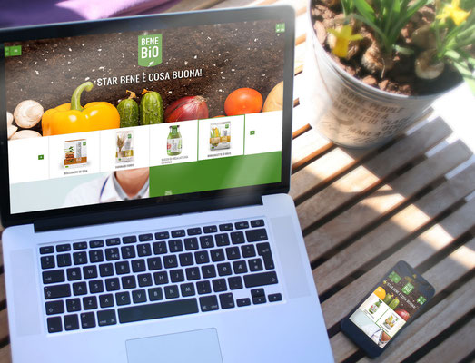 Studio UI per sito di prodotti Bio