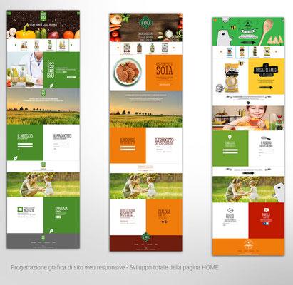 Studio UI per sito di prodotti Bio - Varianti