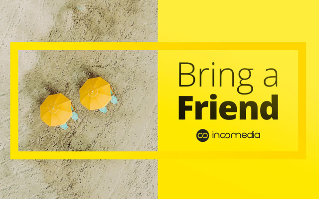 "Concept per campagna ""Bring a Friend"" WebSite X5"