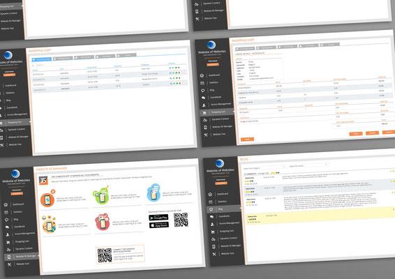 WebSite X5 Control Panel, studio UI per piattaforma gestione sito e dati