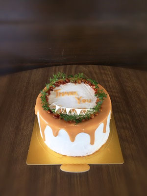 12cm ほろ苦キャラメルドリップの大人のケーキ