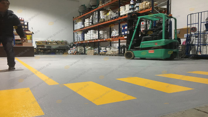 resin floors for industrial flooring applied by pavin group