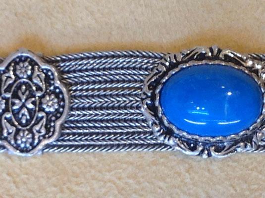 Silberarmband mit Agraffen und Türkis Cabochons, i-must-have.it