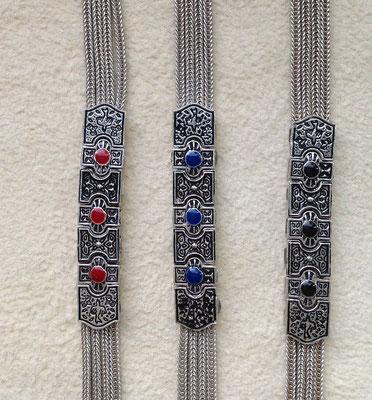 Silberarmbänder mit farbigen Mittelagraffen, i-must-have.it