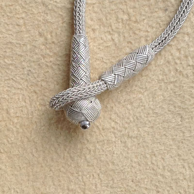 Knebelverschluss aus Silberdraht Knoten, i-must-have.it