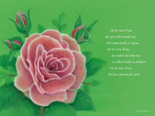 Ich bin eine Rose. ichrondelle, was ich bin, Gisela Rott, Lebenskunst-edition