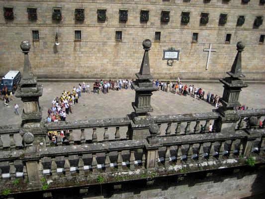 Hl. Jahr Pilger auf der Plaza de Pratereias