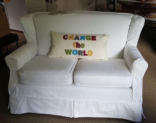 White Denim Slipcover