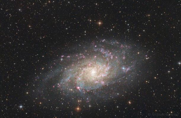 """M33. Erstes Deep-Sky Foto von Herrn Spiering. Fotonewton 8"""" f/4 red dwarf mit GPU Korrektor. Out of the Box!"""