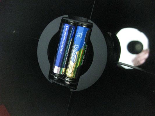 Batteriehalterung für Fangspiegelheizung