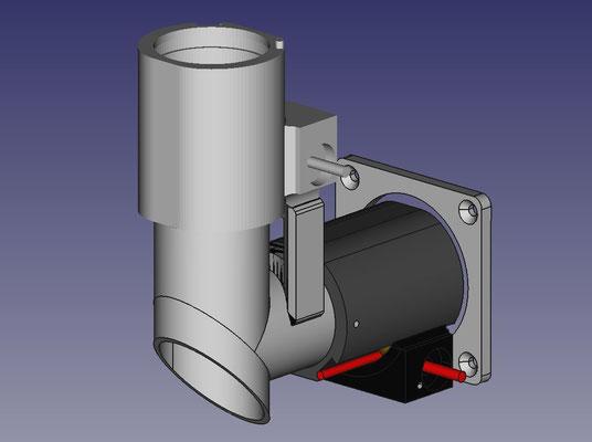 CAD Konstruktion der Umlenkoptik und der Okularauszüge