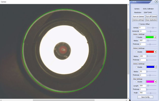 """8"""" f/4 mit GPU Korrektor vor der Kollimation"""