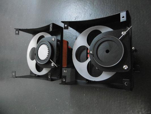 Filterrad und Irisblende vor der Endmontage