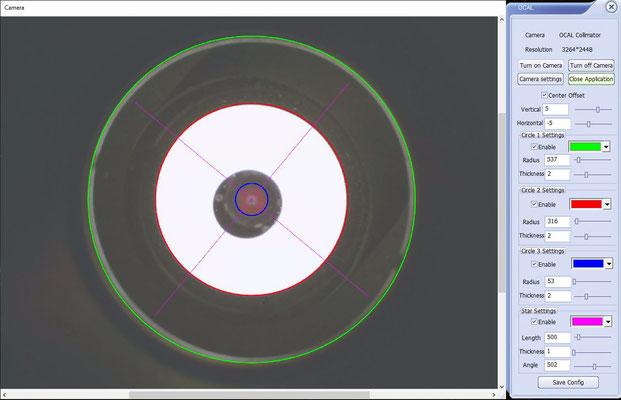 """8"""" f/4 mit GPU Korrektor nach der Kollimation"""