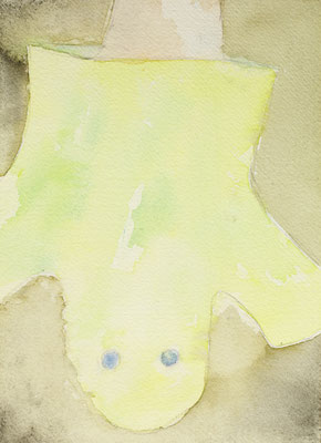 HANGED, 2013, watercolor on paper, 23.7 x 17.5 cm