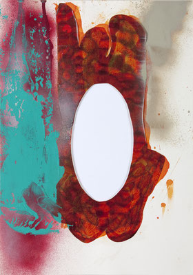 E, 2006, mixed media on paper, 32 x 24 cm
