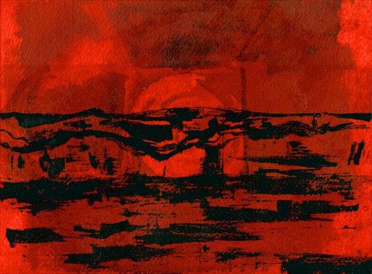 NOUVELLE VAGUE, 2013, watercolour and ink on paper, 17.5 x 23.7 cm