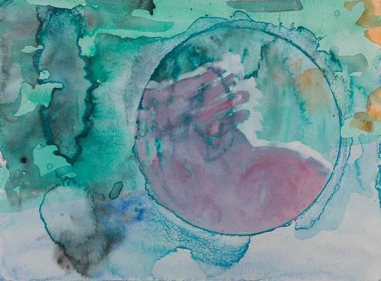 NÉO, 2006, watercolor on paper, 27.4 x 37.4 cm
